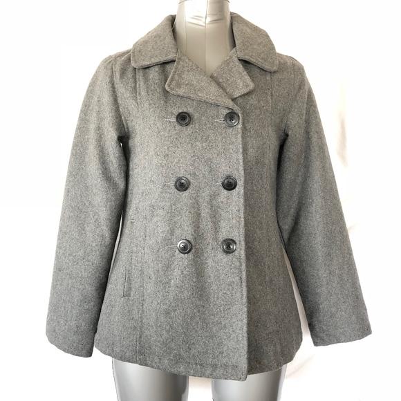 a61f95194852 Old Navy Girls Gray Pea Coat